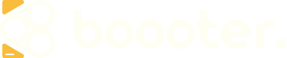 Boooter B-Greater and wordmark in soft light colour palette - Medium size